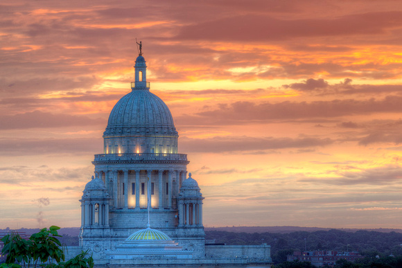 Statehouse sunset